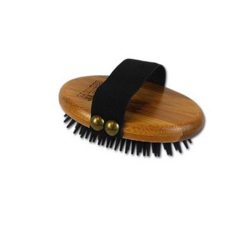 Bamboo Curry Brush with Rubber Bristles