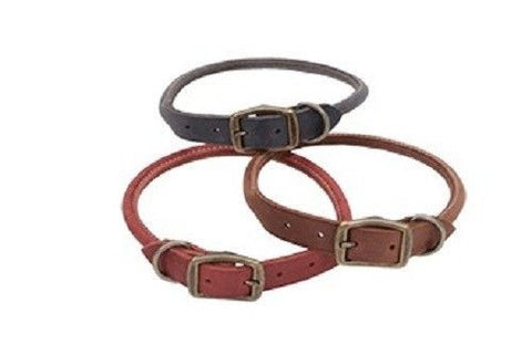 Rustic Rolled Leather Collar