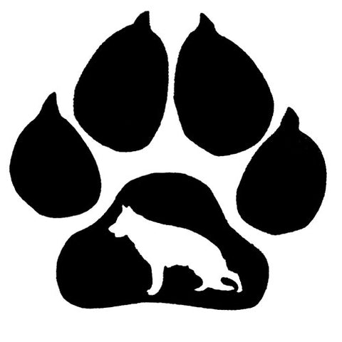 German Shepherd Paw Car Decal