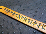 "1"" Viking Rune Stamped Leather Bracelet"