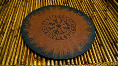 Vegvisir Viking Leather Mouse Pad