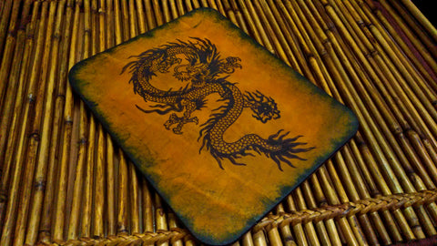 Chinese Dragon Leather Mouse Pad