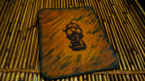 Gas Mask Leather Mouse Pad