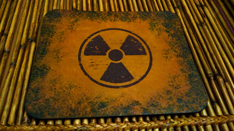 Radiation Symbol Leather Mouse Pad