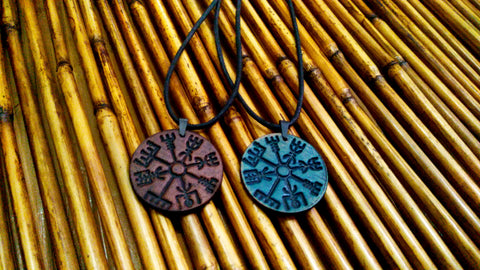 Vegvisir Viking Compass Leather Necklace