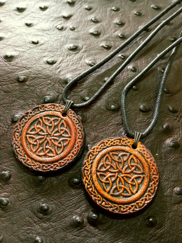 Celtic Knotwork Leather Necklace