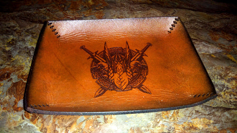 Odin Viking Leather Valet Tray