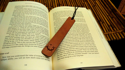 Allomancy Symbol Leather Bookmark