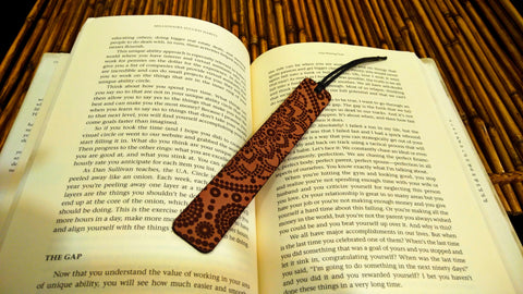 Mandala Leather Bookmark
