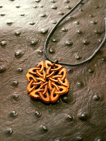 Celtic Knot Wood Necklace