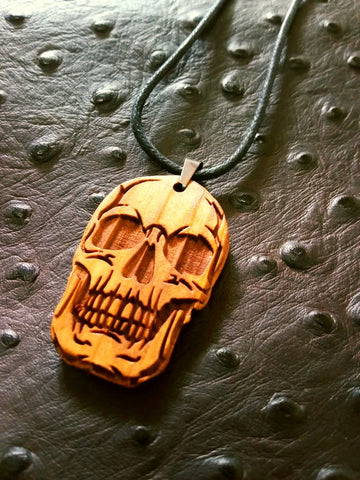 Skull Wood Necklace