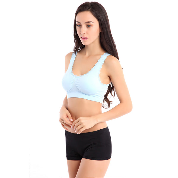 Lace Pattern Seamless Sports Bra - waistshaper