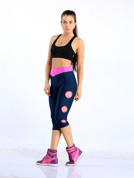 Women's Blue High Waist Leggings