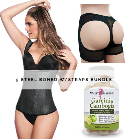 9 Steel Boned w/straps Bundle - waistshaper