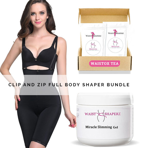 Isabella Clip and Zip Full Body Shaper Bundle - waistshaper
