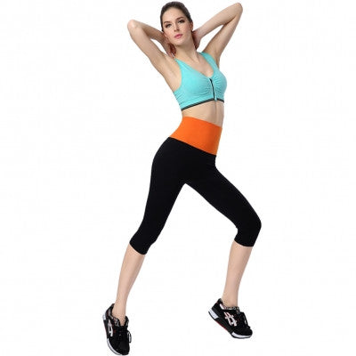 Yoga Orange Waist Elastic Women's Pants