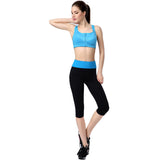 Yoga Blue Waist Elastic Sports Pants