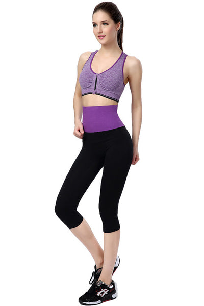 High Waist YOGA Purple Sport Leggings Fitness - waistshaper