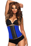9 STEEL BONED BLUE LATEX WAIST TRAINER - waistshaper