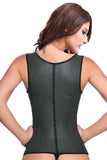9 Steel Boned Latex Waist Trainer Vest With Straps - waistshaper
