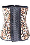 9 Steel Boned Leopard Latex Waist Trainer - waistshaper