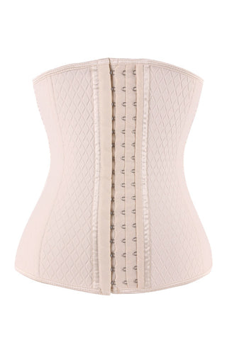 Nude Neoprene Steel Boned Lattice Waist Trainer - waistshaper