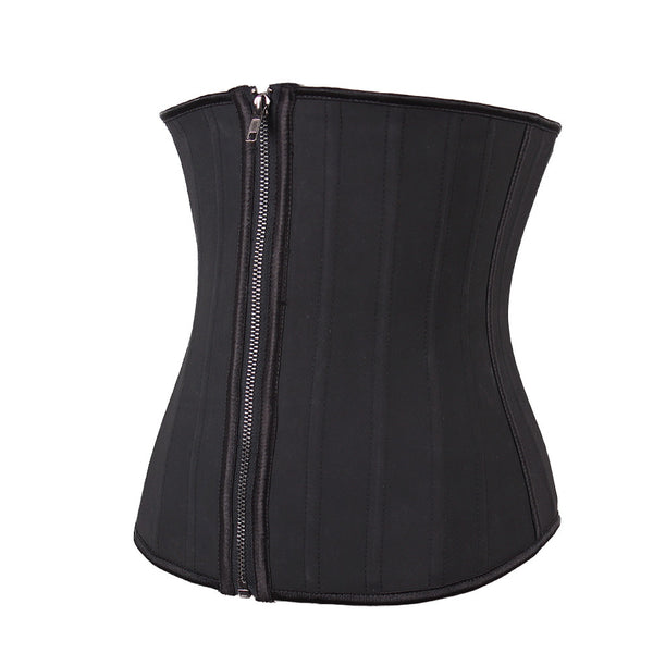 25 Steel Bone Latex Zip & Clip Waist Trainer - waistshaper
