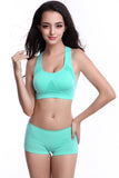 Women Green H Back Sports Bra