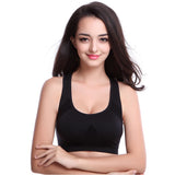 Women Black U-neck Sports Bra