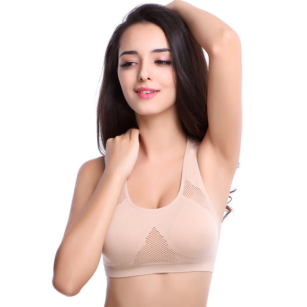 Nude U-neck Padded Sports Bra - waistshaper