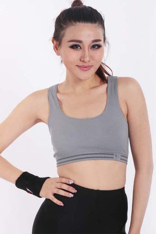 U-neck Grey Sports Bra - waistshaper