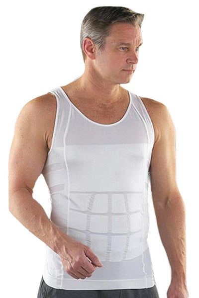 White Tight Tank Vest Body Shaper