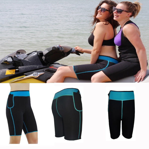 Blue Neoprene Pants - waistshaper