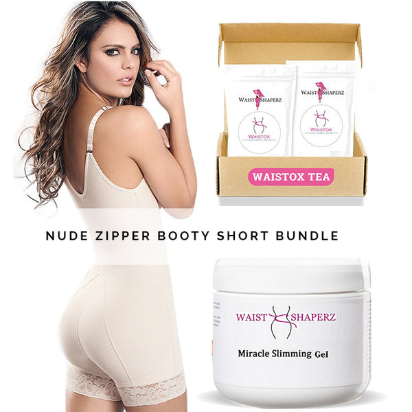 Atenas Zipper Booty Short Bundle - waistshaper