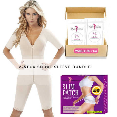Sofia V-neck Short Sleeve Bundle - waistshaper