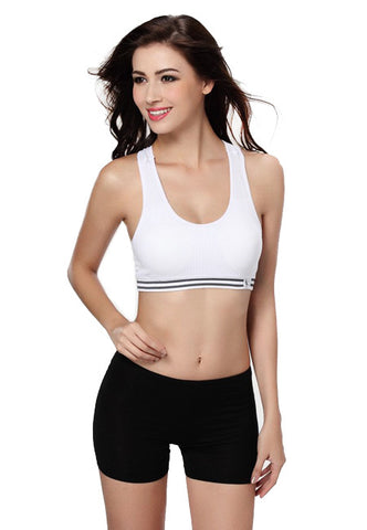 White Padded Sports Bra