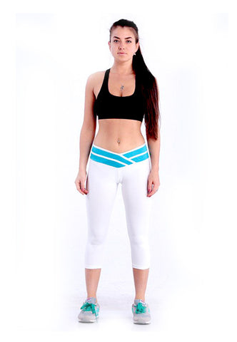 Women's White Sport Pants - waistshaper