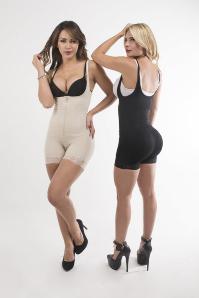 Atenas Zipper Booty Shorts Body Shaper - waistshaper