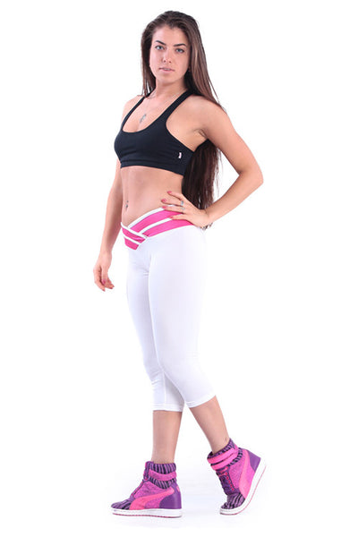 White Yoga Sports Pants - waistshaper