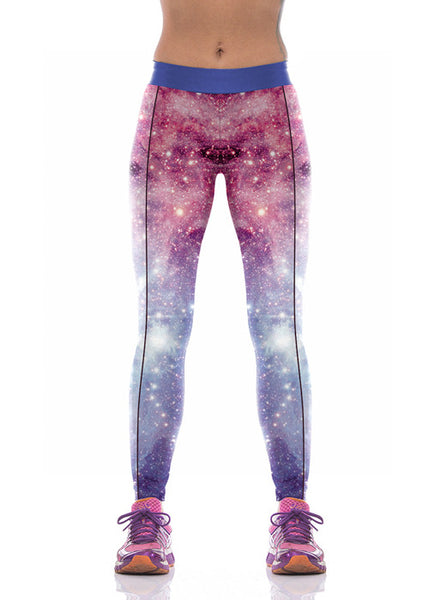 Good Elasticity Galaxy  Yoga Pants - waistshaper