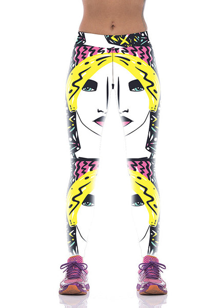 Sexy Blondie Print Funky Leggings Women Yoga Pants - waistshaper