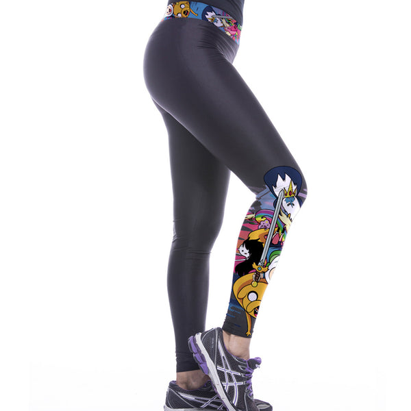 Slim Sports Printed Leggings - waistshaper