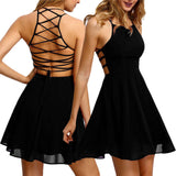 Backless Chiffon Bandage Party Dress - waistshaper