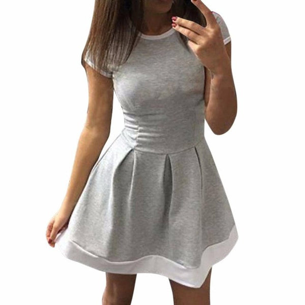 Casual Bodycon Vintage Dress - waistshaper