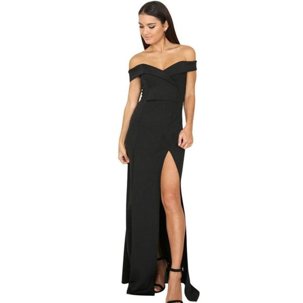 Sleeveless Split The Fork Lrregular Formal Dress - waistshaper