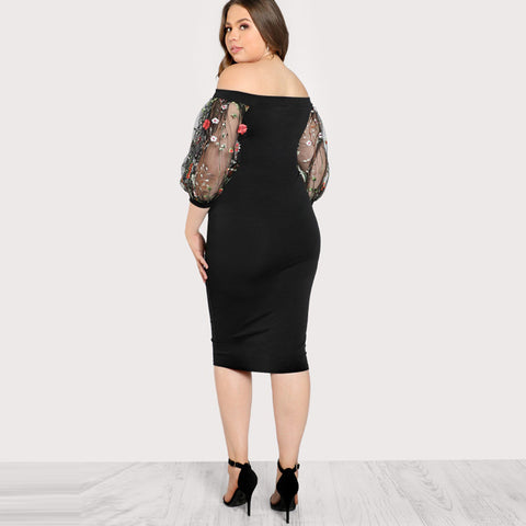 Summer Dress Off the Shoulder Bardot Pencil Dress