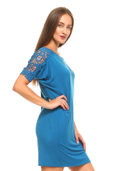 Women's Crochet Sleeve Dress