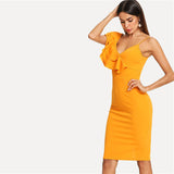 Back V Neck Party Bodycon Dress - waistshaper