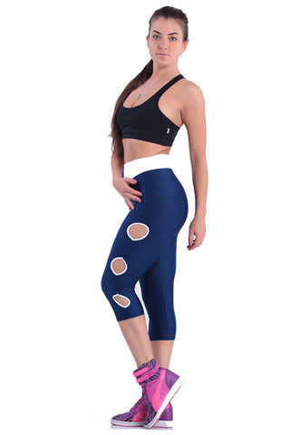Dark Blue Workout Leggings - waistshaper