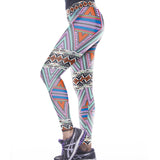 Women Geometry Pattern Fitness Yoga Leggings - waistshaper